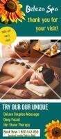 rack card template, beauty salon spa business