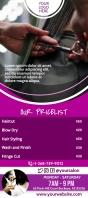 Rack Card Template for Hair Dresser