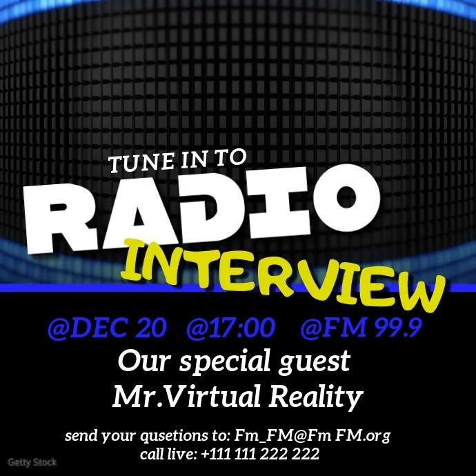 Radio Interview Instagram-bericht template