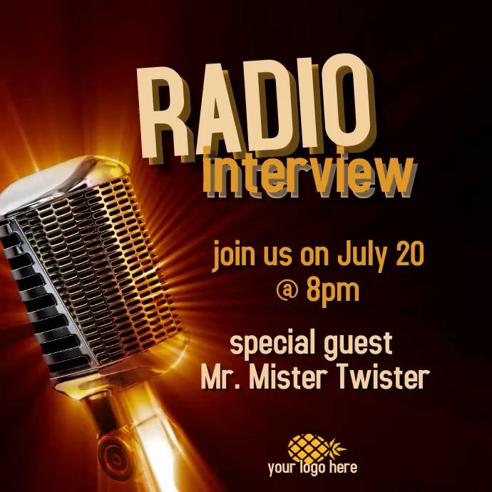 Radio interview Publicación de Instagram template