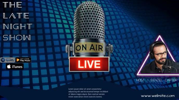radio interview งานแสดงผลงานแบบดิจิทัล (16:9) template