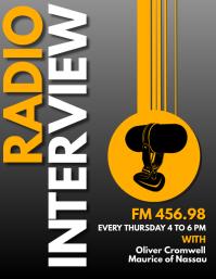 radio interview design template Volante (Carta US)