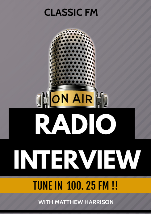 radio interview flyer A3 template