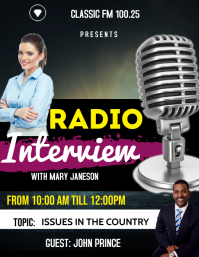 Radio Interview flyer template