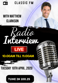 Radio Interview Flyers A3 template