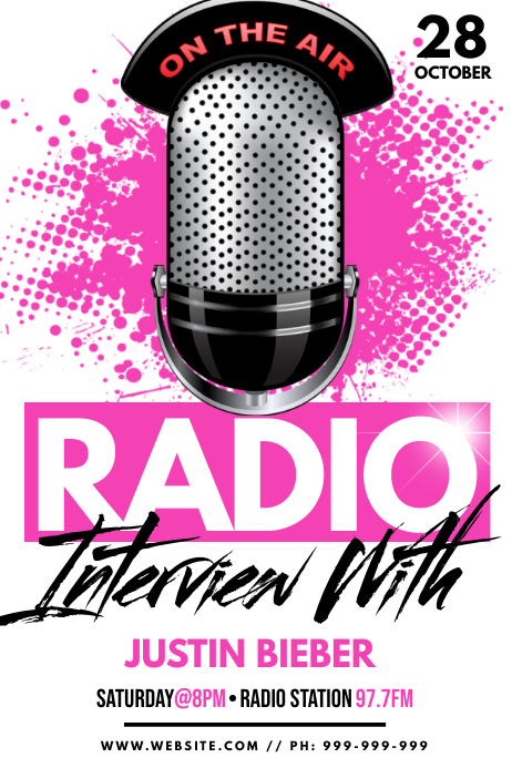 Radio Interview Poster Póster template