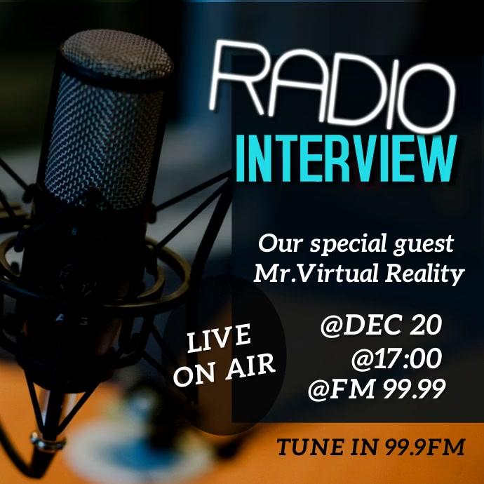 Radio Interview video template