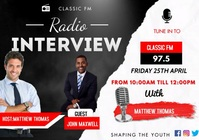 Radio Interview video template A3