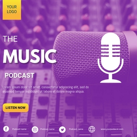 Radio podcast flyer Instagram Post template