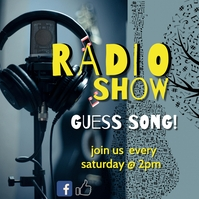 Radio show guess song Instagram Post template