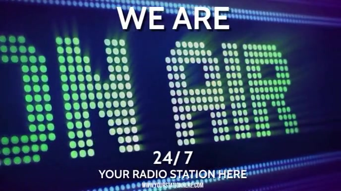 RADIO STATION W POP MUSIC (I can change to any type) Tampilan Digital (16:9) template