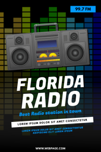 Radio Station Flyer Template