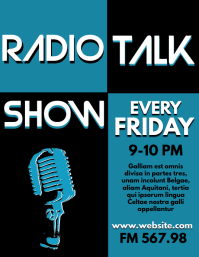 radio talk show flyer design template
