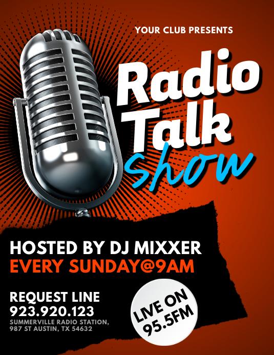 Radio Talk Show Flyer