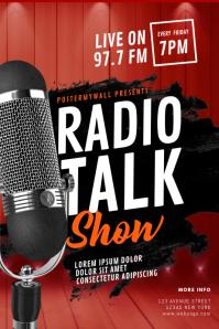 Radio Talk Show Flyer Template
