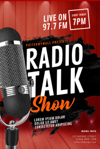 Radio Talk Show Flyer Template Poster
