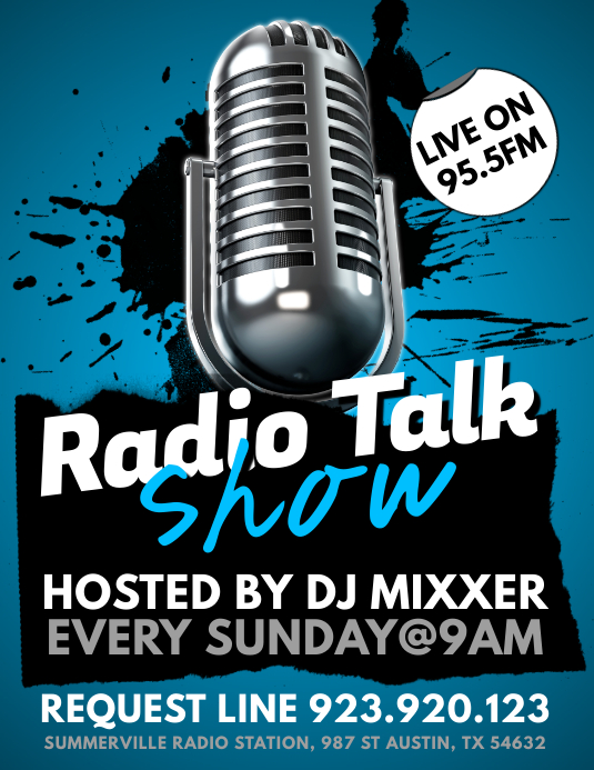 Radio Talk Show Flyer