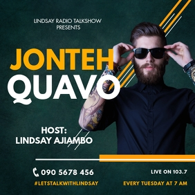 RADIO TALKSHOW FLYER Instagram Post template