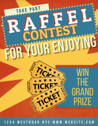 raffle contest AD POSTER FLYER TEMPLATE