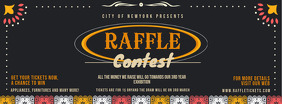 Raffle Contest Black Invitation