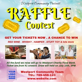 Raffle contest charity fundraising Instagram Post template