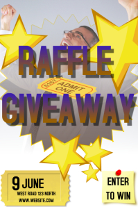 RAFFLE CONTEST FLYER POSTER AD