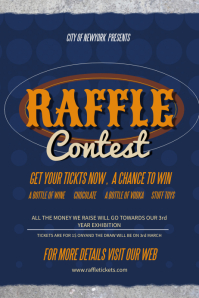 Raffle Contest Poster Template