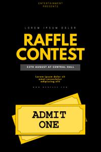 Raffle Contest flyer template