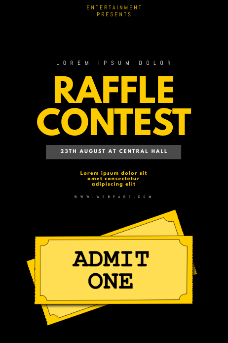 Raffle Contest flyer template