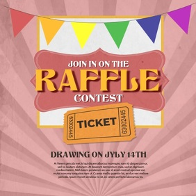 Raffle Contest Video Template โพสต์บน Instagram