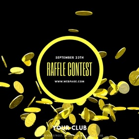Raffle Contest video template for instagram