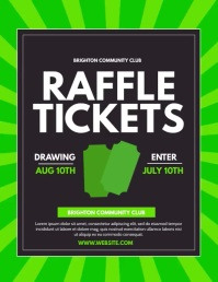 Raffle Flyer (US Letter) template
