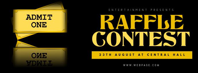 Raffle Event Facebook Cover Template