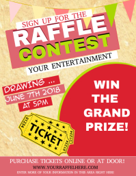 Big ticket raffle prizes flyer