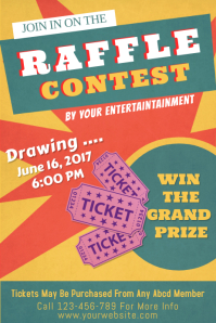 Attractive Raffle Poster Template On Competition Flyer Template