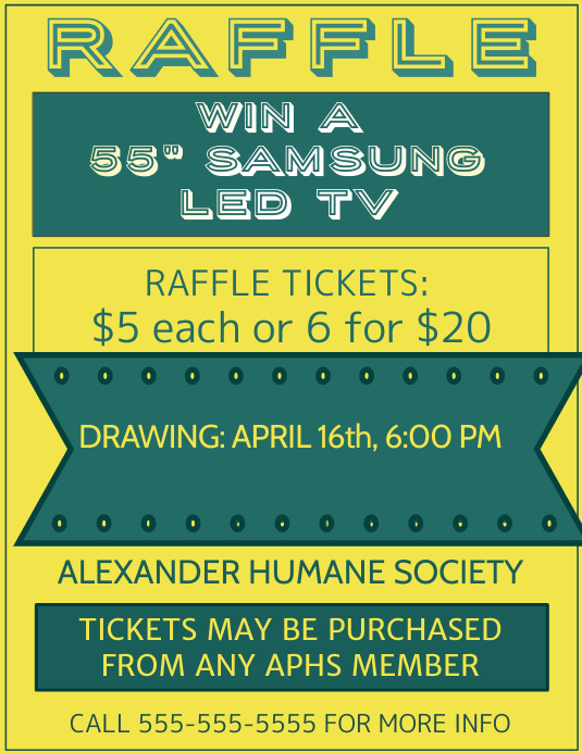 raffle fundraiser flyer poster template postermywall