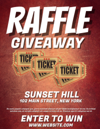 Raffle Giveaway Flyer (US Letter) template