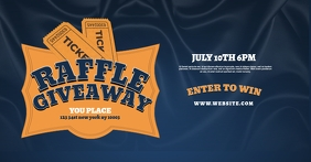 Raffle Giveaway Facebook Flyer Template