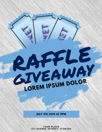 Raffle Giveaway Flyer Template