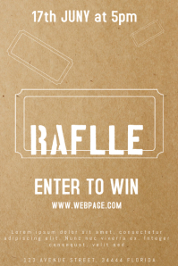 raffle giveaway ticket poster flyer template