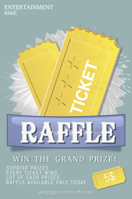 Customizable Design Templates for Raffle | PosterMyWall