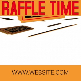 RAFFLE LOTTO LOTTERY design Template Square (1:1)