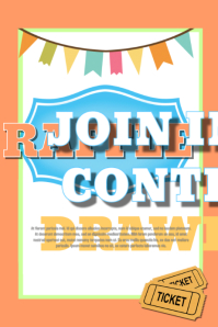 facebook photo contest rules template - design a winning raffle flyer postermywall