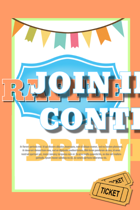Design A Winning Raffle Flyer  Postermywall