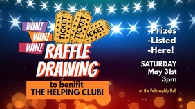Raffle Ticket Benefit Drawing Digital Display template