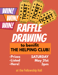 Raffle Ticket Benefit Drawing Event Flyer