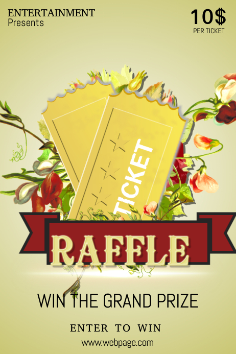 raffle ticket event poster template