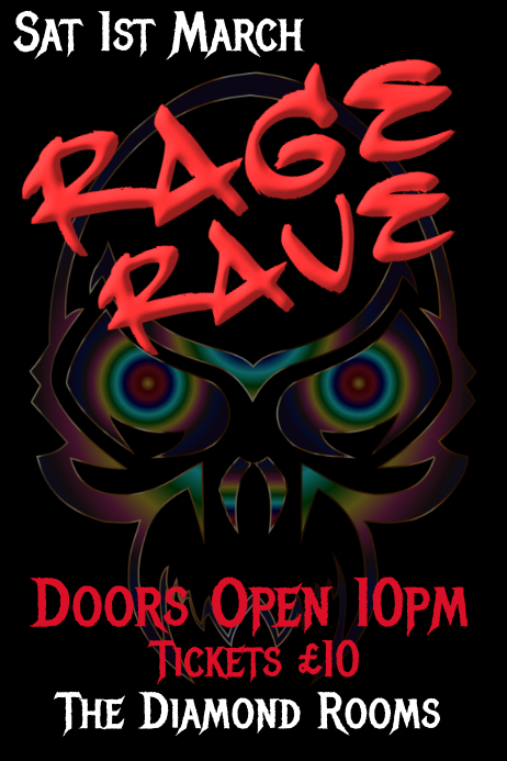 rage rave template postermywall