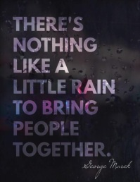 Rain bring people together inspiration video
