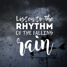 Rain Instagram-opslag template